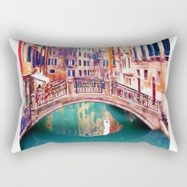 Small Bridge in Venice Rectangular Pillow