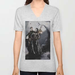 Halloween Outlaw Queen Unisex V-Neck
