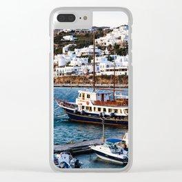 Mykonos, Greece. Clear iPhone Case