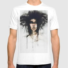 Wild girl #watercolor MEDIUM White Mens Fitted Tee