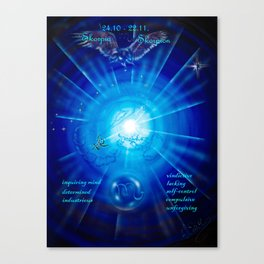 Zodiac sign Skorpio 3 Canvas Print