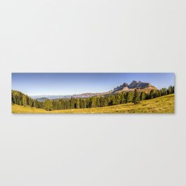 Panoramic view in the Dolomites Canvas Print
