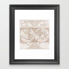 Terra in Tan Framed Art Print