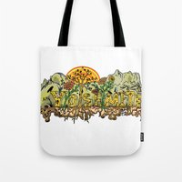 yosemite Tote Bags featuring Yosemite  by Geryes