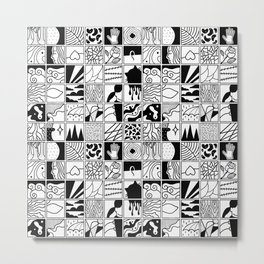 extraordinary spaces - pattern Metal Print