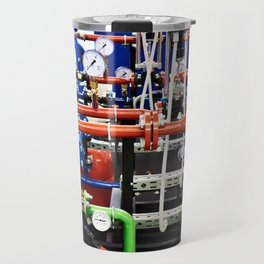 Piping with manometers for industry Travel Mug