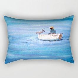 The Fisherman of Bonaire Rectangular Pillow