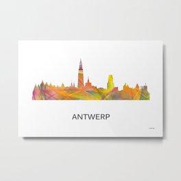 Antwerp Belgium Skyline WB1 Metal Print