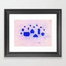 Under Origami Skies Framed Art Print