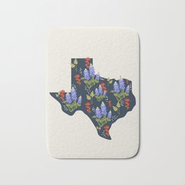 Lone Star State of Flowers Bath Mat