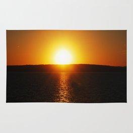 Sunset On Lake Superior 3 Rug