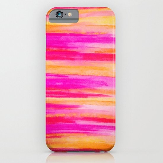 Welcome to Funky Town - Disco Inferno Dance Party Bold Rainbow Stripes Abstract Watercolor Painting iPhone & iPod Case