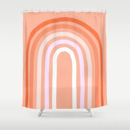 Rise above the Rainbow - Peachy pastels Shower Curtain