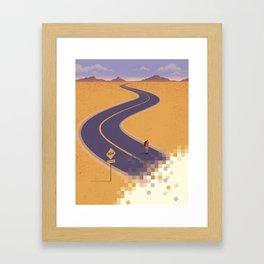 No path found Framed Art Print