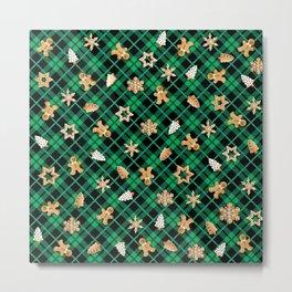 Gingerbread Green Metal Print