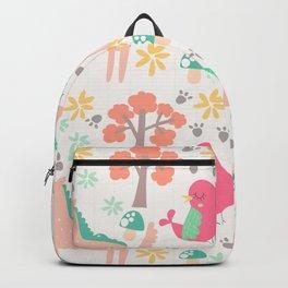 Cute cartoon unicorns & birds pattern Backpack