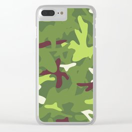 Camouflage military background. Clear iPhone Case