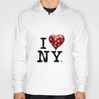 banksy Hoodies featuring Banksy * I Love New York by The Invisible Shop
