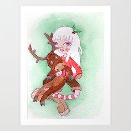 Princess Moose Art Print