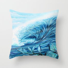 Blue Paradise Throw Pillow