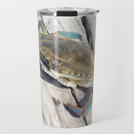 Watercolor Crustacean, Blue Crab 01, Assateague, Virgina, Goin' Crabbin' Travel Mug