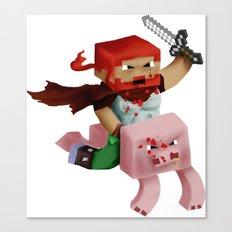 Minecraft Avatar H00j0 Canvas Print