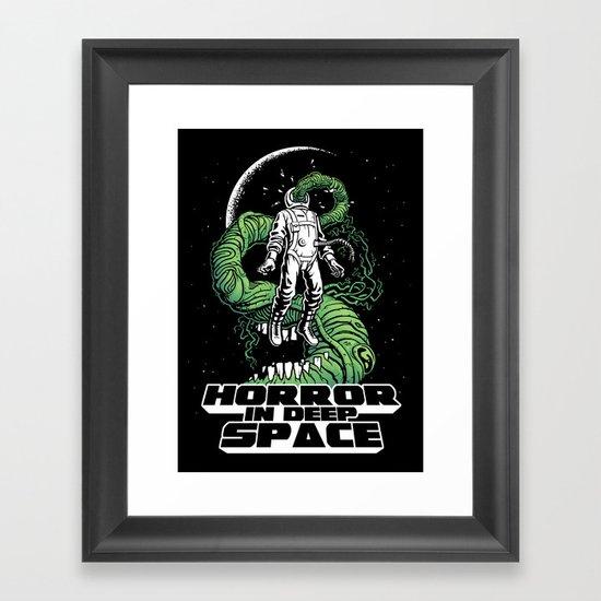 Horror In Deep Space Framed Art Print