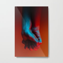 Red Hot Hands 4 of 4 - Modern Photography Metal Print