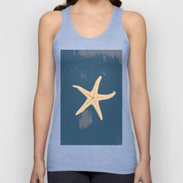 blue seashell Unisex Tank Top