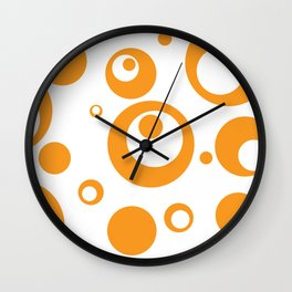 Circles Dots Bubbles :: Marmalade Inverse Wall Clock