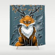 Deer Fox Shower Curtain