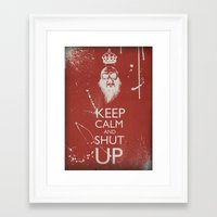 keep calm Framed Art Prints featuring Keep Calm by ODDITY
