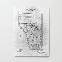 Piano frame Metal Print