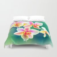 orchid Duvet Covers featuring orchid by haroulita