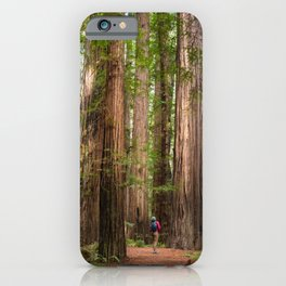 Humboldt Redwoods, Avenue of the Giants Photography, Redwood Forest Art, Person in Photo Art, Enchanted Magical Woodland iPhone Case