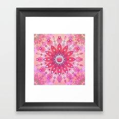 Tropical Pink Floral Mandala Framed Art Print