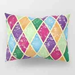 Rainbow harlequin Pillow Sham