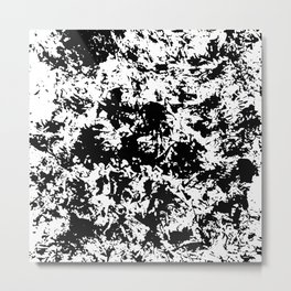 Stamped 'papering' modern black and white design Metal Print
