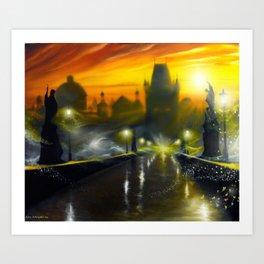 Magic Prague Art Print