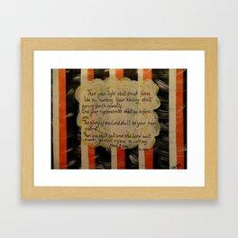 Isiah 58:8-9 Framed Art Print