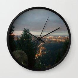 Sunrise Over the City Wall Clock