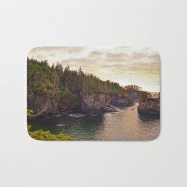 Sunset at Cape Flattery, Washington, Olympic Peninsula, Monolith, Pacific Ocean, Islands Bath Mat