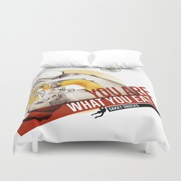 Sakky Snacks Duvet Cover