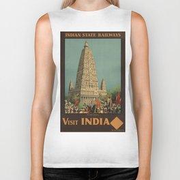 Vintage poster - India Biker Tank