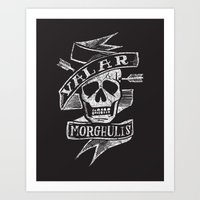 valar morghulis Art Prints featuring all men must die by Matthew Taylor Wilson