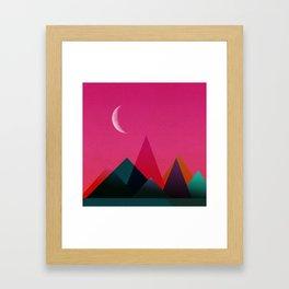 moon light geometric abstract landscape Framed Art Print
