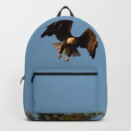 Bald eagle in flight Backpack