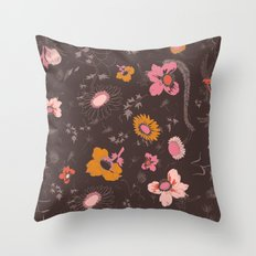 large flowers Throw Pillow