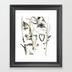 Winter Romance Birch Forest  Framed Art Print