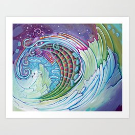 Wave of Awakening Art Print